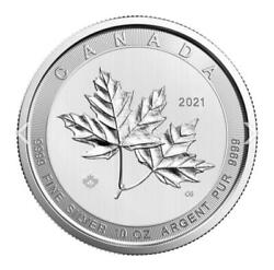 ✅ In-hand ✅ Fast Shipping 2021 10 Oz Canadian Silver Magnificent Maple Leaf Coin