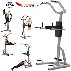 Dip Station Pull-up Single-pole Parallel Bar Power Tower Fitness Equipment 600lb