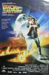 Michael J Fox Back To The Future Signed/auto 24x36 Poster Beckett 162836