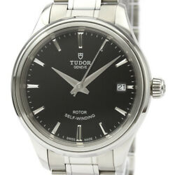 Polished Tudor Style Stainless Steel Mens Automatic Watch 12300 Bf533593