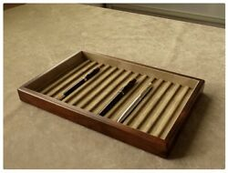Toyooka Craft Wooden Pen Tray Without Lid Sc109 Tray Of 15 Fountain Pens 3 Set