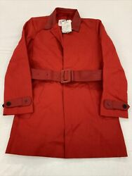 Hunters Mens Red Military Jacket Coat Size 38 Sample New