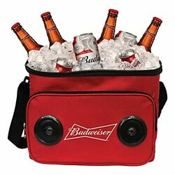 Budweiser Soft Cooler Bag With Built-in Rechargeable Wireless Bluetooth Speakers
