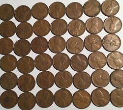 Lot Of 421950-s Lincoln Wheat Pennies Estate Coins/ San Francisco