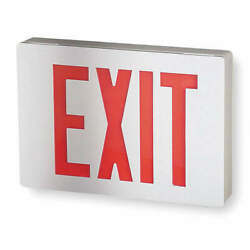 Lithonia Lighting Le S W 1 R El N Exit Sign With Battery Backup1.3w