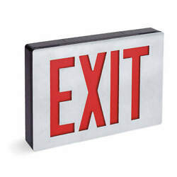 Lithonia Lighting Le S 1 R El N Sd Exit Sign With Battery Backup2.8wred