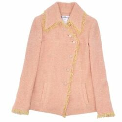 Jacket 01a Coco Button Women 's Cashmere Mixed Wool Tweed Outer No.430