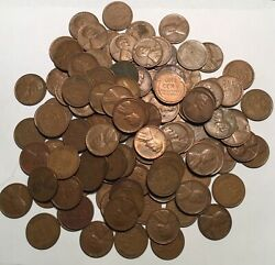 Lot 123-p-d-s 1951 Lincoln Copper Wheat Pennies From Estate Us Coins