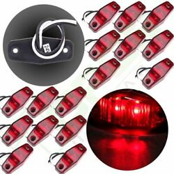 16 2 Wire Design Surface Mount Side Marker 2 Led For 2.5 Red Clearance Light