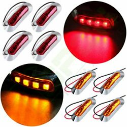 8 Set 4 Smd Led Red Side Marker Light Replacement 2 Wire Design Trailer Us Ship