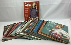 Lot Of 54 Vintage Golden Hands Magazine 1970s - Sewing, Knitting, Patterns