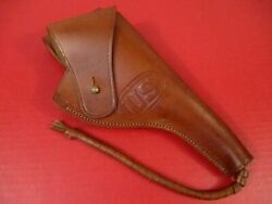 Wwii Us Army M2 Leather Holster Colt Or Sandw M1917 .45 Caliber Revolver - Repro