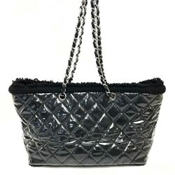 Chain Tote Patent Twale Small Shopping Bag Vinyl Fanny Tweed No.8603