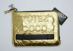 Used Votez Coco Clutch Bag Gold Sold Out Immediately Vintage No.8719