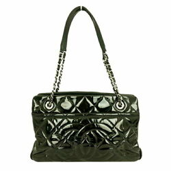 Chain Shoulder Black Silver Fittings Women And039s Bag Previously No.9916