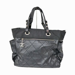 A34210 Puri Fritz Tote Gm Black System Silver Fittings Women 's No.1244