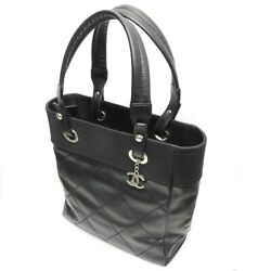 Puri Fritz Pm Coated Canvas Tote Bag Black 281020 Previously No.1364