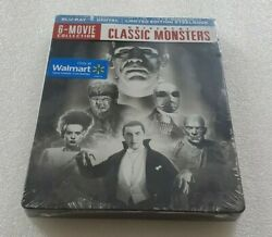 Universal Classic Monsters 6 Movie Collection Hd Blu Ray Steelbook New