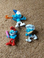 Smurfs Movie Papa Smurf,party Planner,and Baker Smurfa Mcd Happy Meal Toy 2013