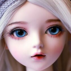 Full Set 60cm Doll 1/3 Bjd Girl With Changeable Shoes Eyes Wigs Dress Hats Socks