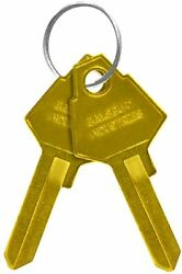 Salsbury Industries Key Blanks For Standard Locks Of Brass Mailboxes Box Of 50