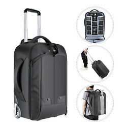 Neewer 2-in-1 Antishock Convertible Wheeled Camera Backpack Rolling Luggage Case