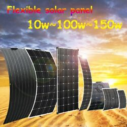 50w-150w 12v Flexible Solar Panel Battery Phone Charger Kit Camping Car Boat Rv