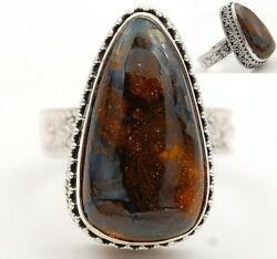 Artisan Pietersite - Namibia925 Solid Sterling Silver Ring Jewelry Sz 7.5 It5-6