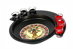 Shot Fun Roulette Set Complete Party Glasses Drinking Glass Gift Night Game