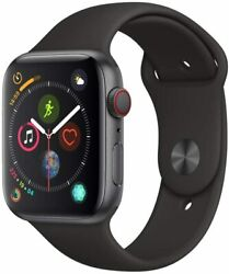 Apple Watch Series 4 Gps+lte W/ 44mm Space Gray Aluminum Case And Black Sport Band