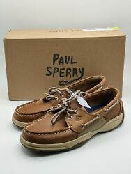 Sperry Intrepid Top Sider Leather Menand039s Boat Shoes Tan New In Box Size 8