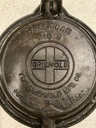 Very Nice Antique 1908 Griswold American No. 8 Waffle Iron Cast Iron W/ Base