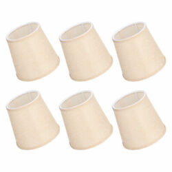 6pcs Fabric Lamp Shades Household Modern E14 Clip On Lampshade For Chandeliers G