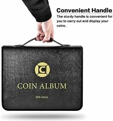 Coin Collection Book Holder For Collectors, 260 Pockets Coins Collecting Album