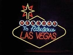 Amy Welcome To Fabulous Las Vegas Bar Beer Neon Light Sign 24x20
