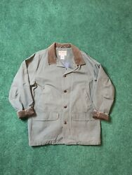 Vintage Ll Bean Duck Hunting Coat Shooting Jacket Bird Game Pouch Mens L Lined