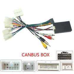 Car Audio Stereo 16pin Android Power Wiring Harness Cable Adapter With Canbus