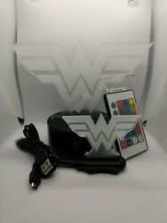 Wonder Woman Led Night Lamp,3d Acrylic With Remote 7 Changing Colors Scm Control