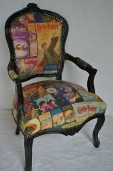 Louis Xv Arm Chair French Style Chair Vintage Harry Potter Leather Look