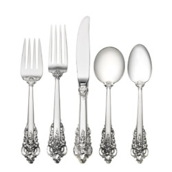Wallace Grande Baroque 5-piece Place Setting With Cream Soup Spoon