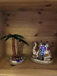 Waterford Holiday Heirlooms Nativity Camel And Large Palm Tree-124731 No Box