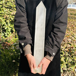 7780g Natural Clear White Quartz Obelisk Crystal Wand Point Healing Mineral