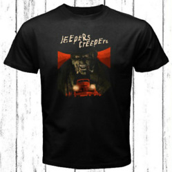 Jeepers Creepers Horror Logo Men#x27;s Black T Shirt 100% Cotton S 3XL Free Ship