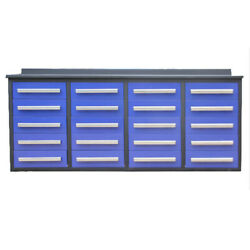 Tool Chest Work Bench 7' Garage Storage Cabinets With Workbench 20 Drawers