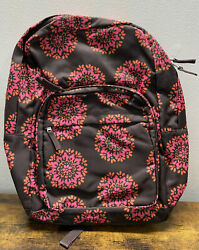 Pottery Barn Pb Teen Classic Floral Pink Red Brown Large Pack It Backpack Flower