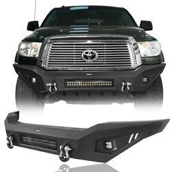 Durable Steel Full Width Front Bumper W/ Skid Plate For 2007-2013 Toyota Tundra