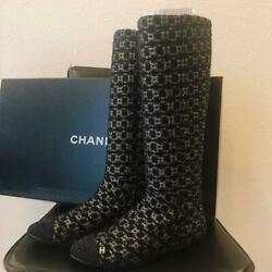 Tweed Boots From Japan Fedex No.9233