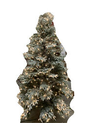 Balsam Hill Lights Out Read- Frosted Fraser Fir Narrow 7.5' With Clear Lights