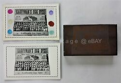Lot Antique Kauffman's Egg Dyes Printing Block Andad Cards Gap Pa Easter 5