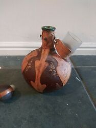 Vintage Leather Wrapped Decanter